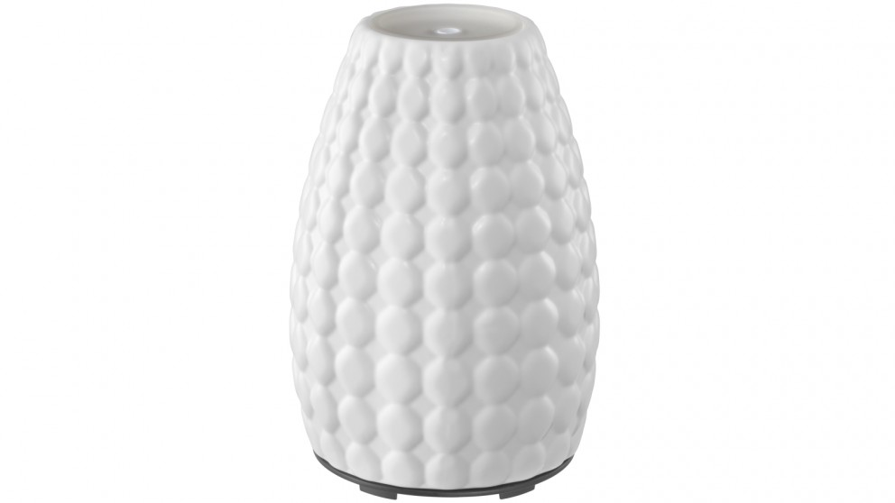 HoMedics Ellia Gaze Ultrasonic Aroma Diffuser - Ceramic White