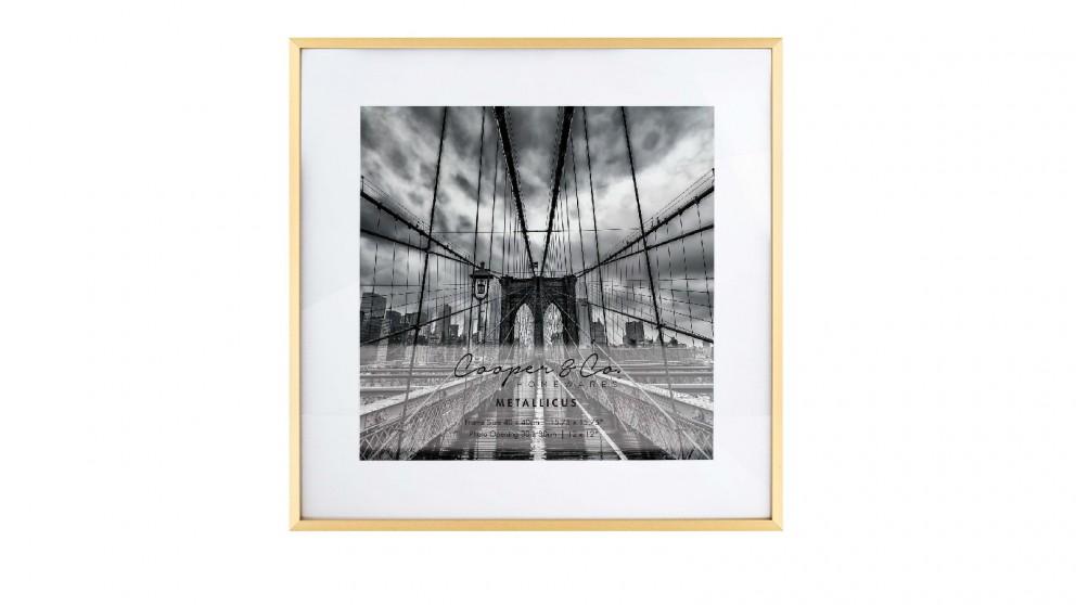 Cooper & Co. Platinum Metal Frame 40X40cm/30X30cm - Gold