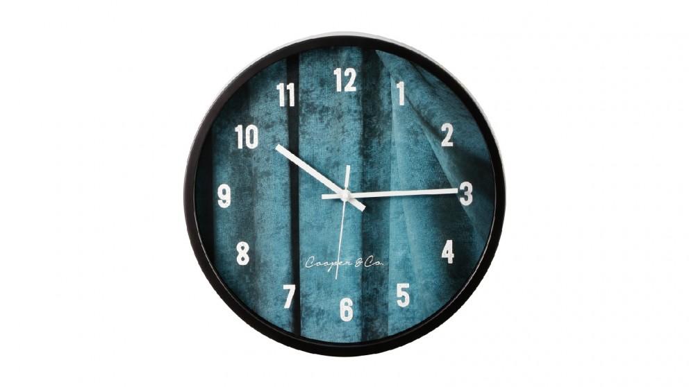 Cooper & Co. Sea Blue Solomon Silent Movement Round Wall Clock - 35cm