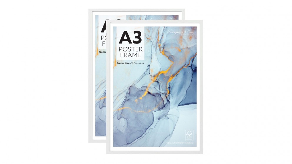 Cooper & Co. Set of 2 A3 Poster Photo Frames - White