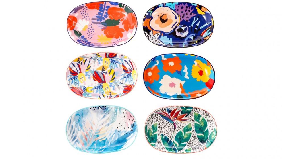 Cooper & Co. 23cm Ceramic Garden Plates - Set of 6