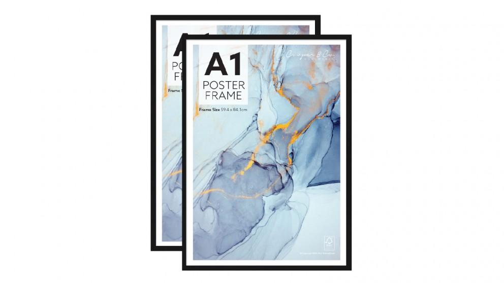 Cooper & Co. Set of 2 A1 Poster Photo Frames - Black