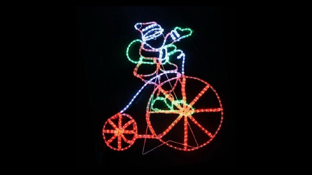 Lexi Lighting LED Santa with Bike - 103cm