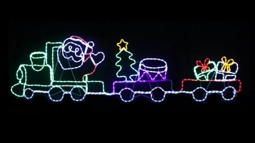 Lexi Lighting 2.58m LED Santa with Train