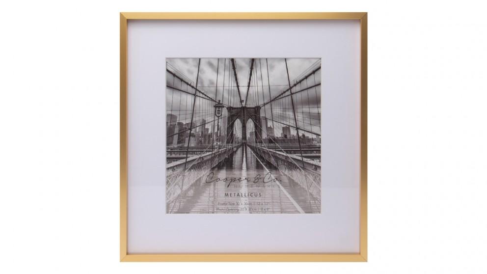 Cooper & Co. 12x12-inc Mat to 8x8-inch Gold Premium Metallicus Metal Photo Frames
