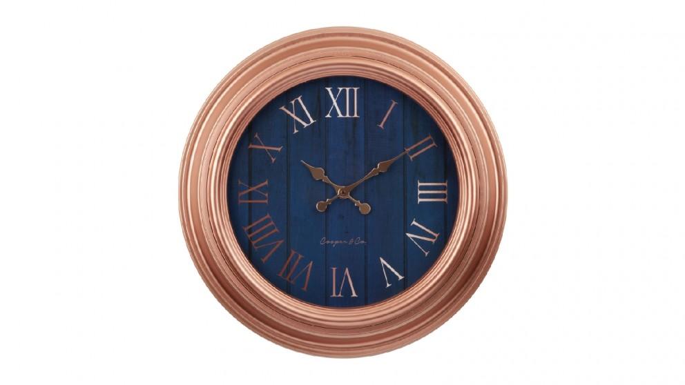 Cooper & Co. Copper Jumbo Quartz Wall Clock - 60cm