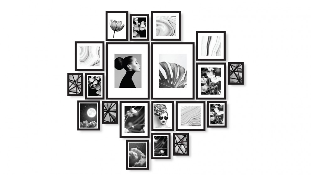 Cooper & Co. Instant Gallery Wall 20 Piece Frame Set - Black