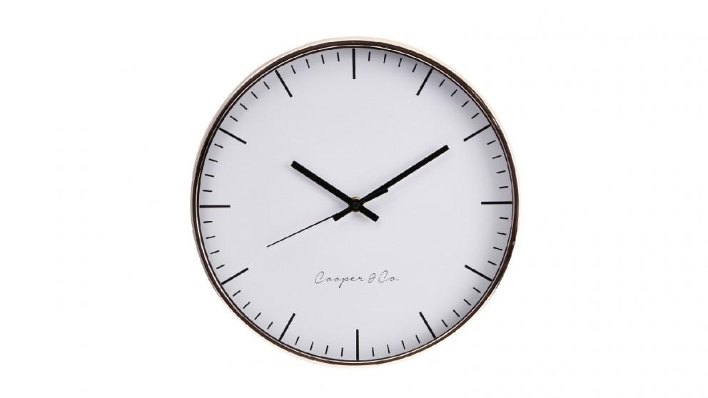 Cooper & Co. Copper Nelson Silent Movement Round Wall Clock - 30cm