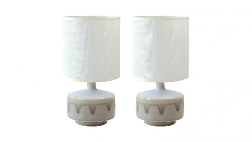 Lexi Lighting Set of 2 Braid Ceramic Table Lamp