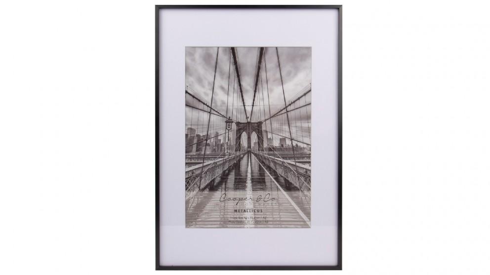 Cooper & Co. A2 Mat to A3 Black Premium Metallicus Metal Photo Frames