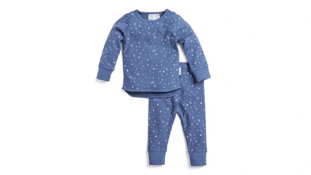Ergopouch 2 Piece set TOG 1.0 Pyjamas for 4 Year Child - Night Sky