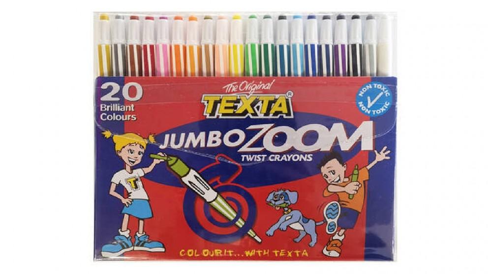Texta 20-pieces Jumbo Zoom Twist Crayons