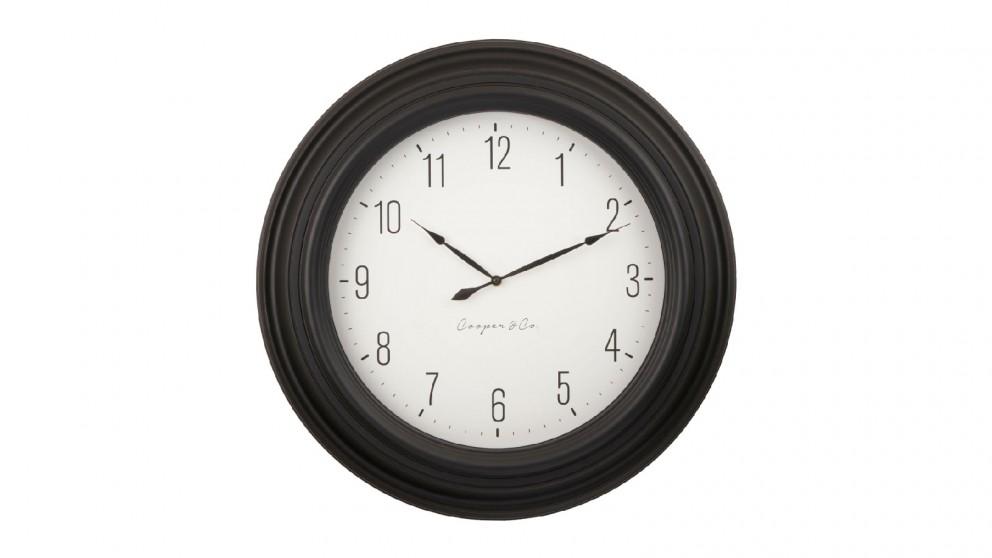 Cooper & Co. Black & White Jumbo Quartz Wall Clock - 60cm