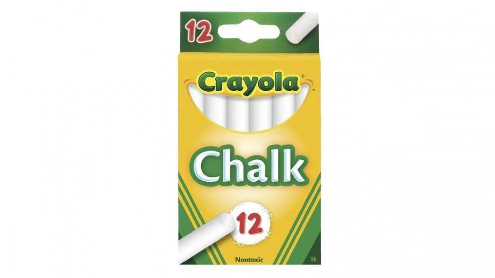 Crayola White Chalk Sticks - 12-Pack