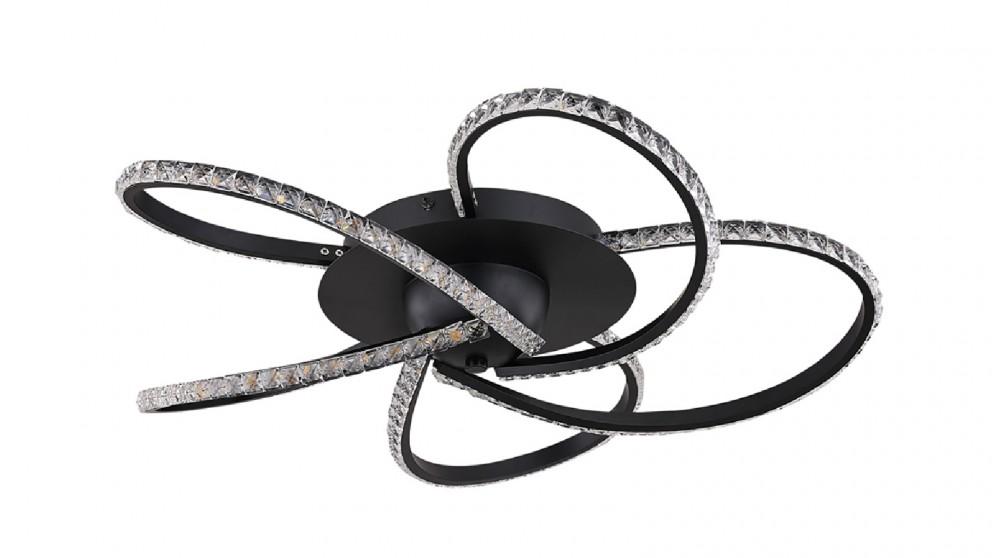 Lexi Lighting Irie Dimmable 5 Lights LED Ceiling Light - Black
