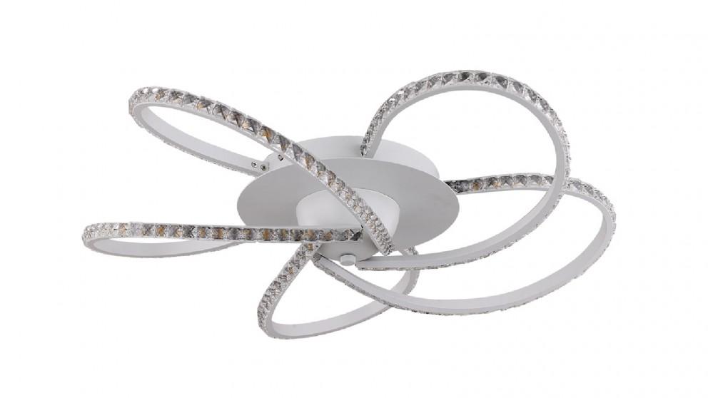 Lexi Lighting Irie Dimmable 5 Lights LED Ceiling Light - White
