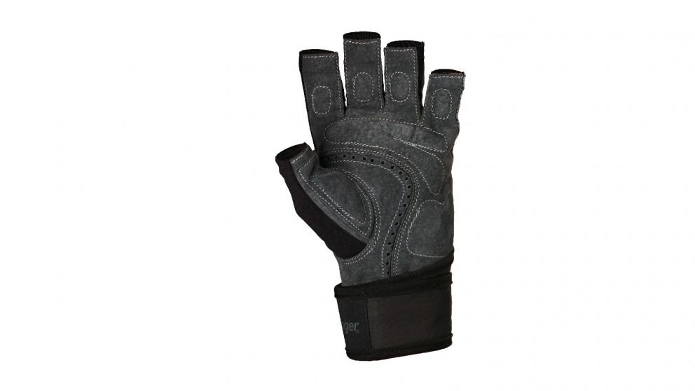 Harbinger Grey Bio-Flex Wristwrap Gloves - Small