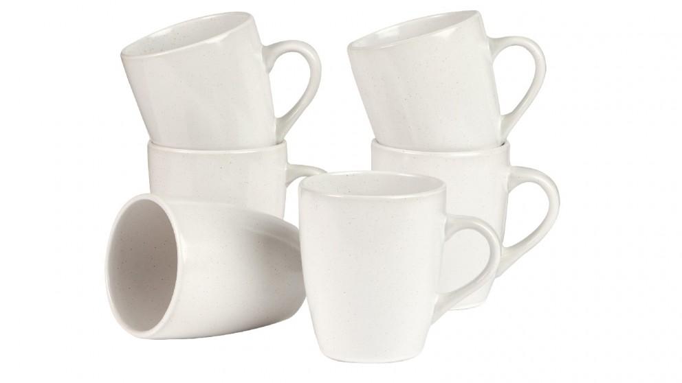 Cooper & Co. Mari 10cm Mug In White - Set of 6
