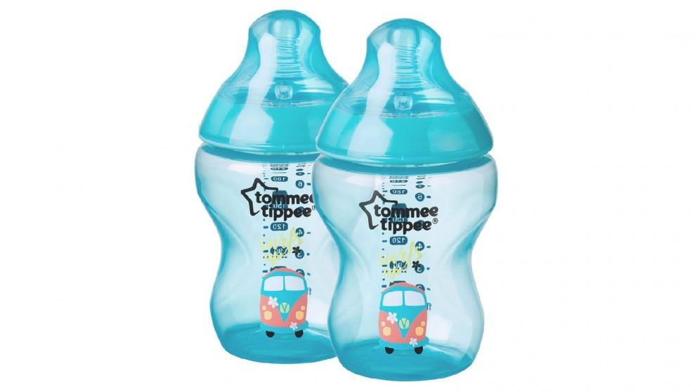 Tommee Tippee 2 Packs 260ml Bottles - Blue