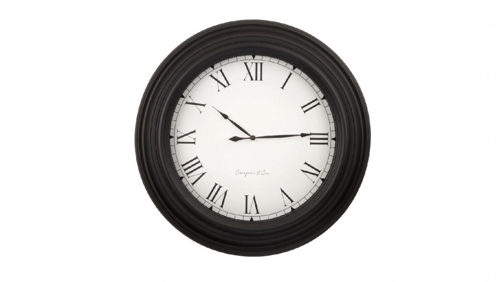 Cooper & Co. Large Black Jumbo Quartz Quartz Wall Clock - 60cm