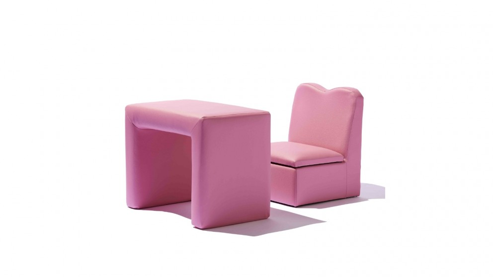 Central Baby District Storage Chair & Table - Pink
