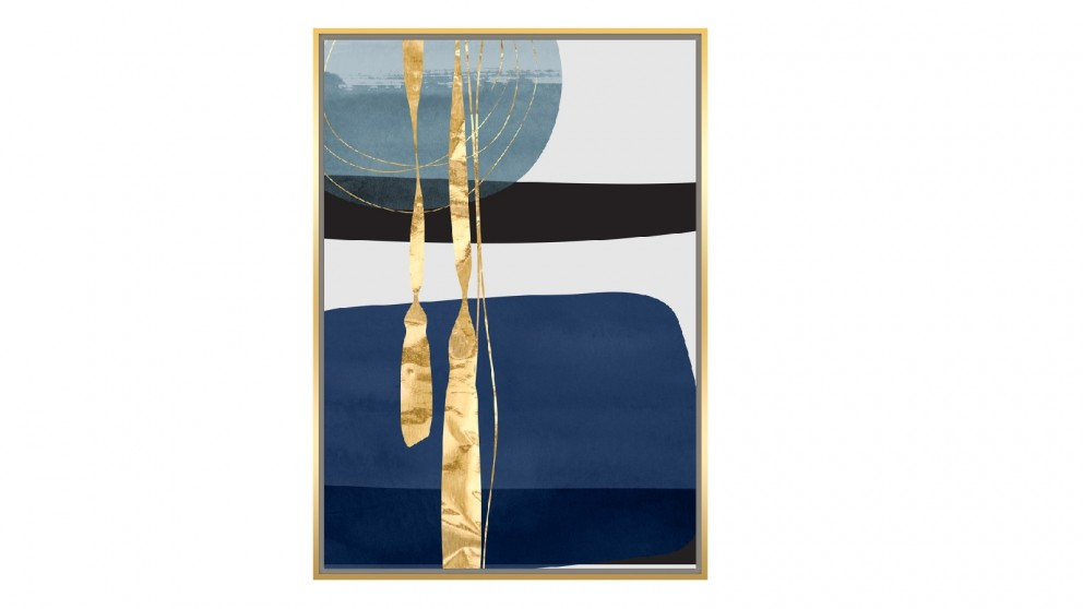Cooper & Co. 102x143cm Abstract  Foil Ready To Hang Canvas Wall Art -  Blue & Gold