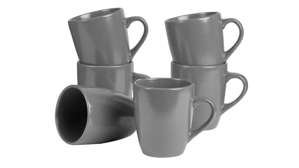 Cooper & Co. Mari 10cm Mug In Charcoal - Set of 6