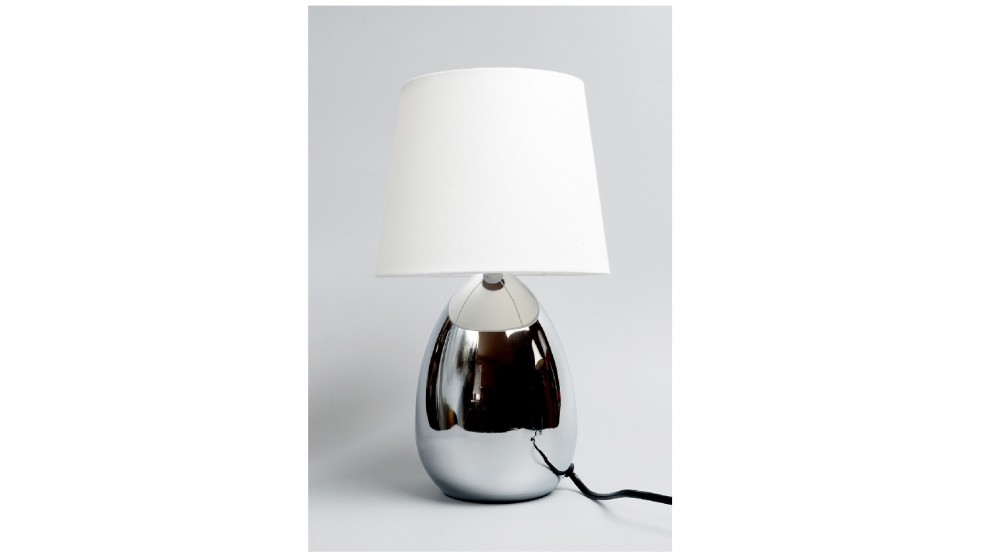 Lexi Lighting Libby Touch Table Lamp - Chrome with White Shade