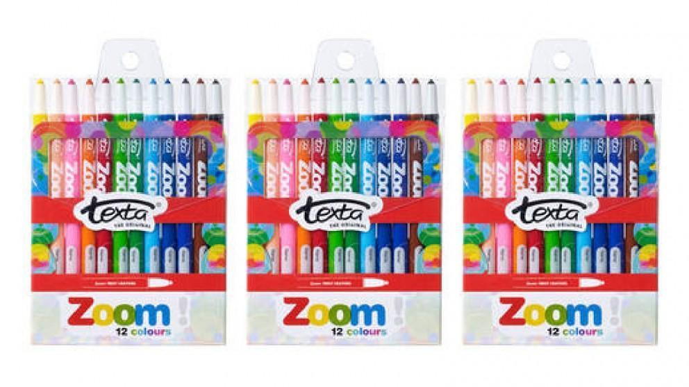 Texta 12-pieces The Original Zoom Crayons - 3x