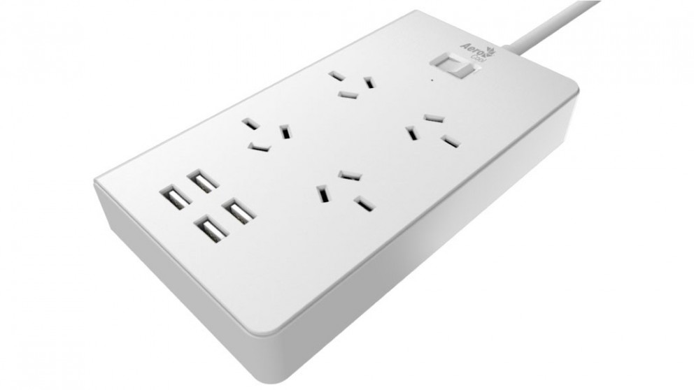 Aerocool ASA PowerStrip with 4 AC Adapter and 4 USB Charging Port