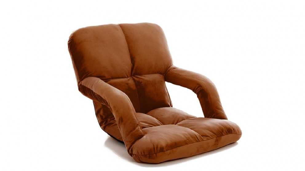 Soga Floor Recliner Lazy Chair with Armrest - Coffee
