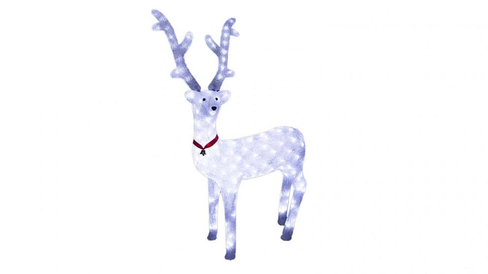 Lexi Lighting Acrylic White Reindeer - 95cm