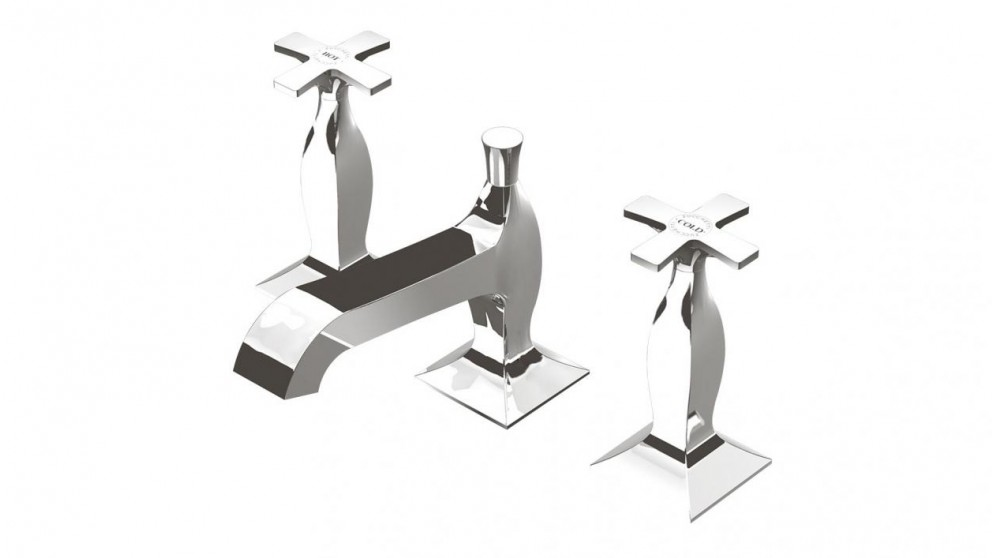 Bellagio Basin Set with Cross Handles