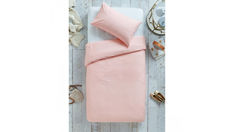 Asher Coral Queen Quilt Cover Set