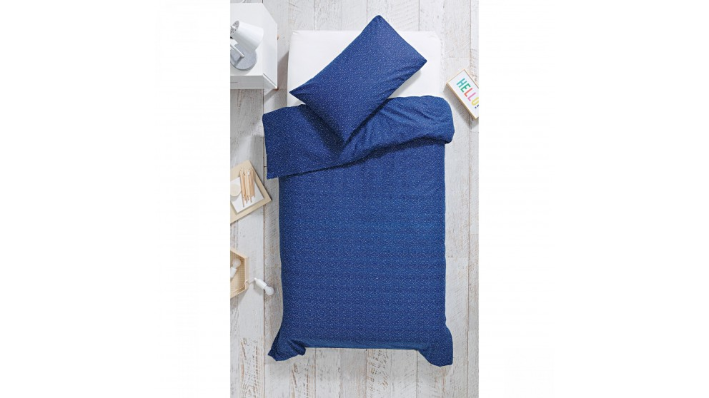 Asher Navy Single Quilt Cover Set