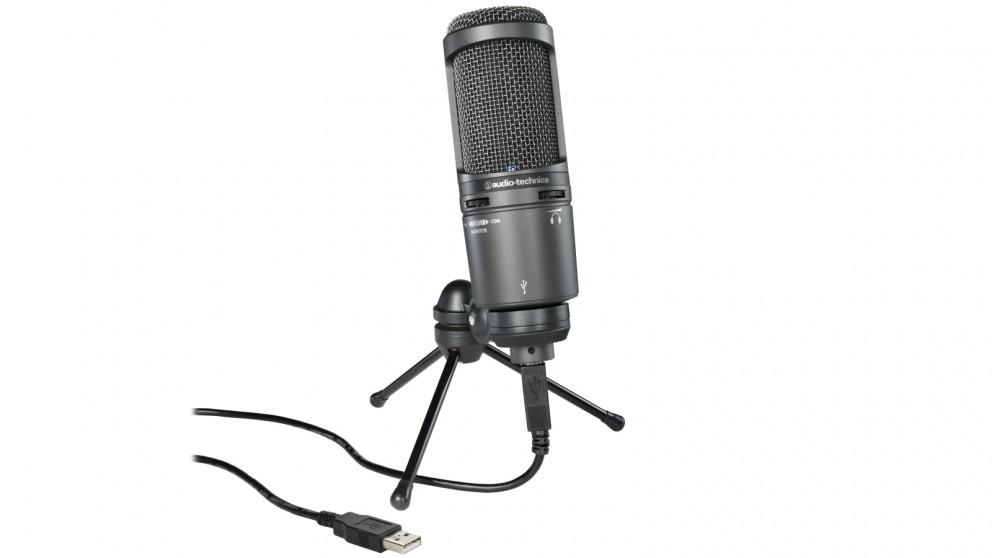 Audio-Technica AT2020USB+ Condenser Microphone - Black