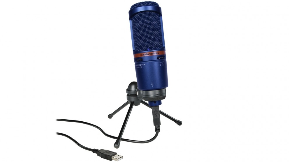 Audio-Technica AT2020USB+ Condenser Microphone - Blue