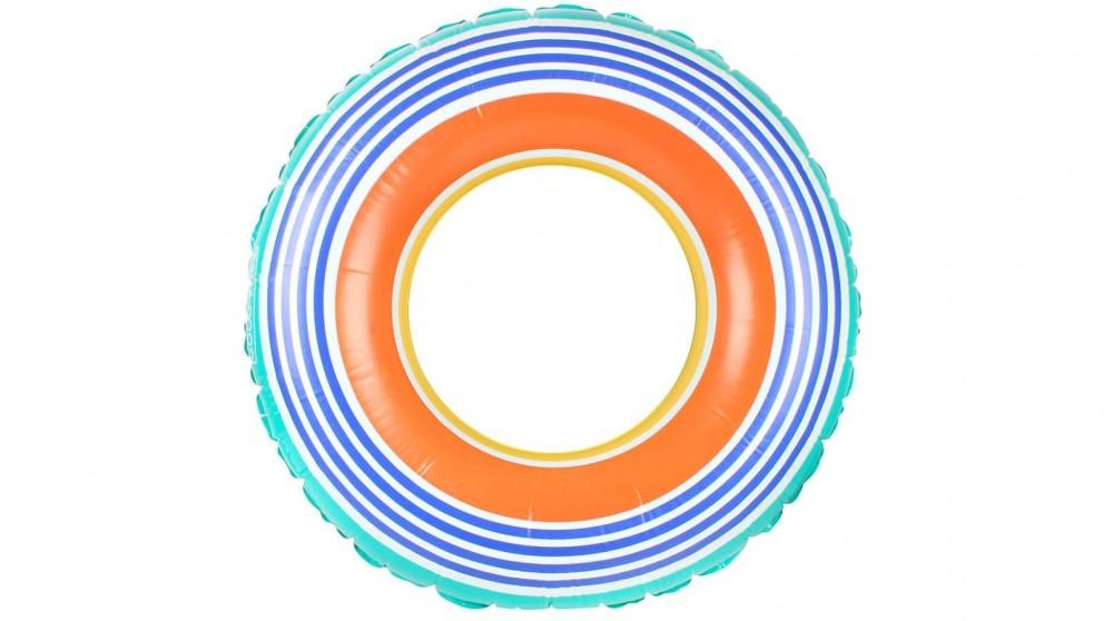 Good Vibes Swim Ring - Retro Stripe