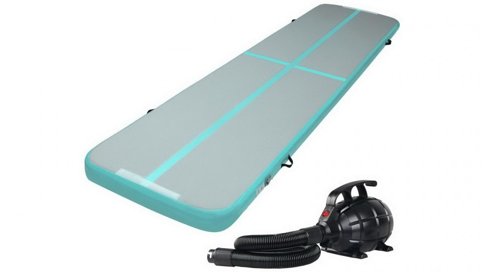 Everfit Inflatable Air Track Mat with Pump 4m x 100cm - Green