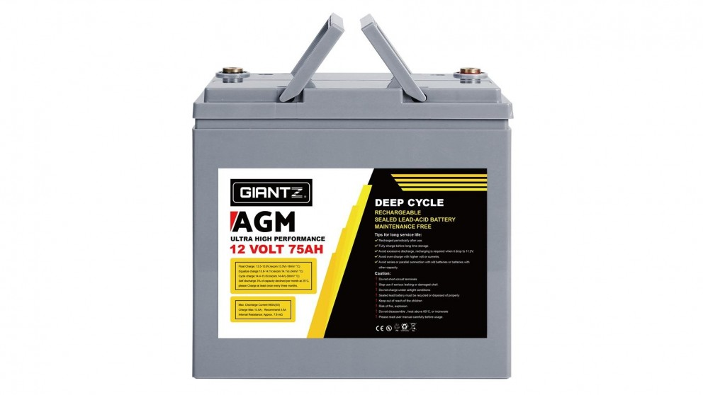 Giantz 75AH Deep Cycle Battery 12V Power