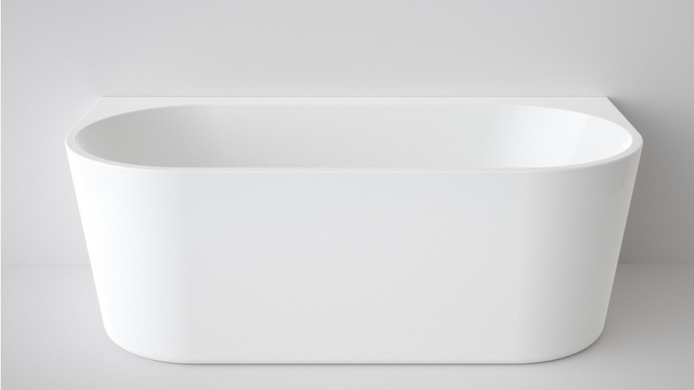 Caroma Aura 1600mm Back to Wall Freestanding Bath