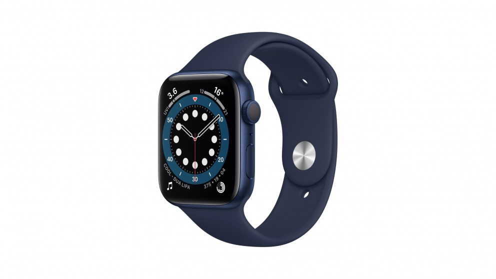 Apple Watch Series 6 44mm Blue Aluminium Case with Navy Sports Band - GPS
