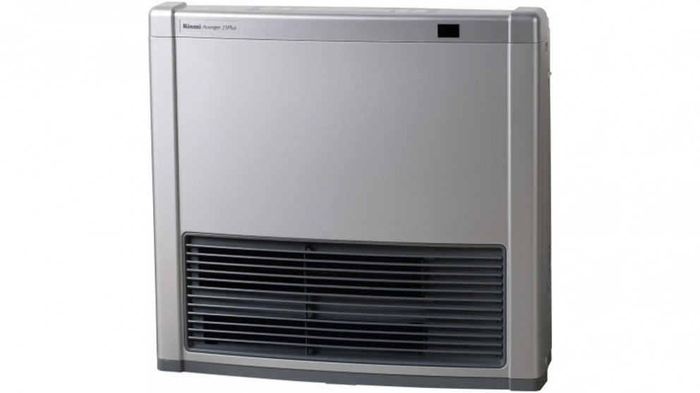 Rinnai Avenger 25Plus Unflued LPG Convector Heater with Electric Boost - Platinum Silver