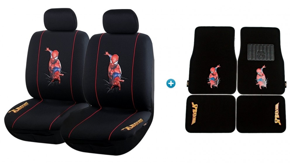 Avengers Spiderman Pack - Seat Covers and Car Mats