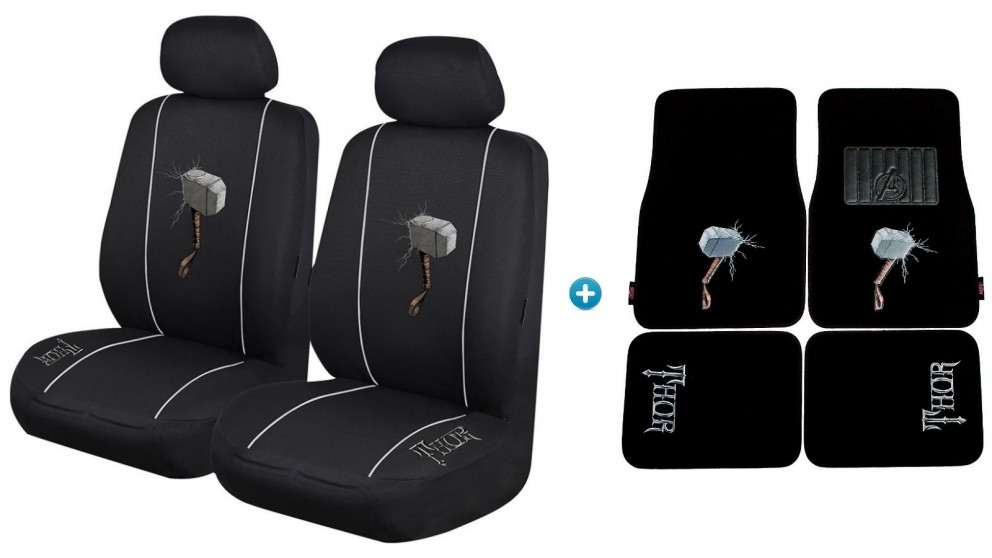 Avengers Thor Pack - Seat Covers and Car Mats