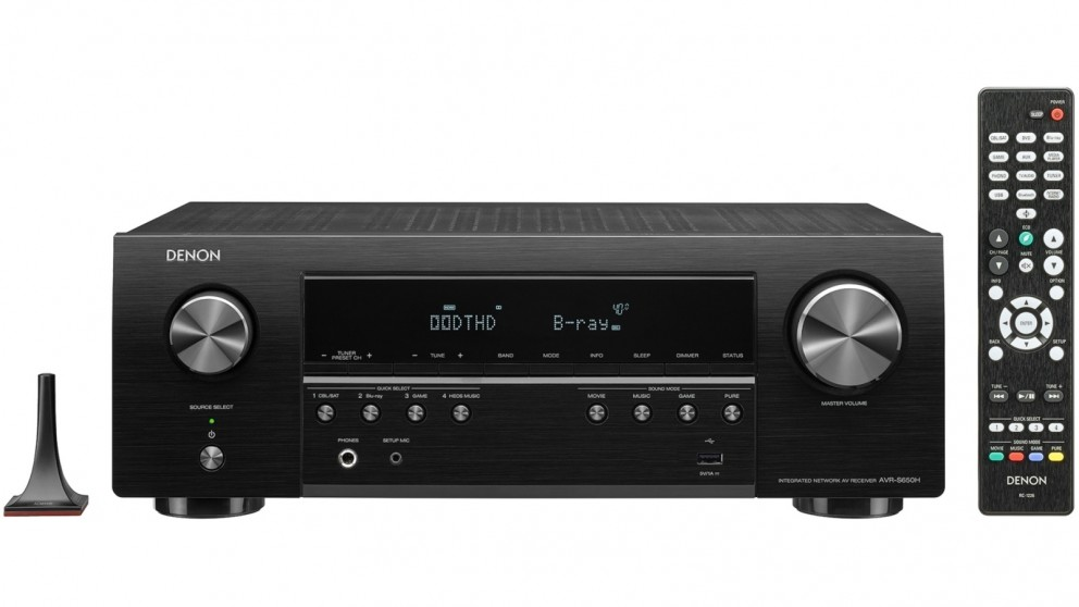 Denon AVR-S650H 5.2 Channel High Power 4K AV Receiver with Voice Control