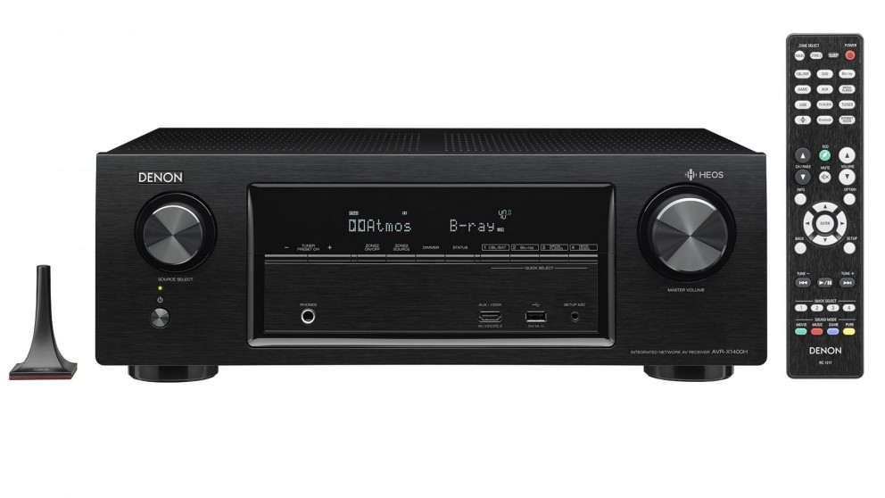 Denon 7.2 Channel AVR-X1400 Surround Receiver with Heos