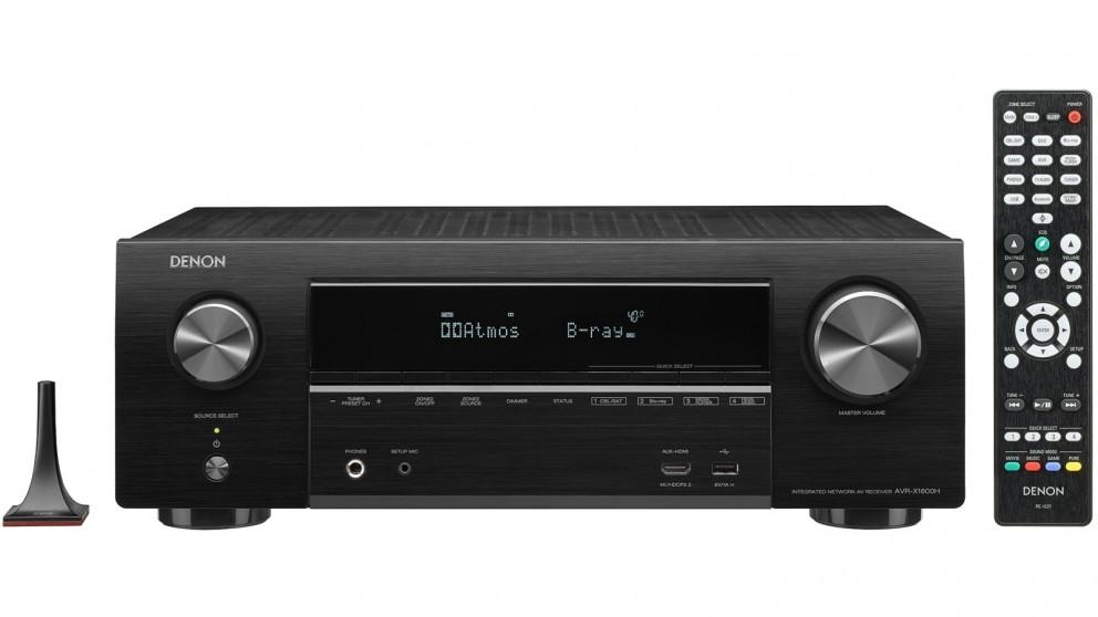 Denon AVR-X1600H 7.2 Channel AV Receiver with Voice Control