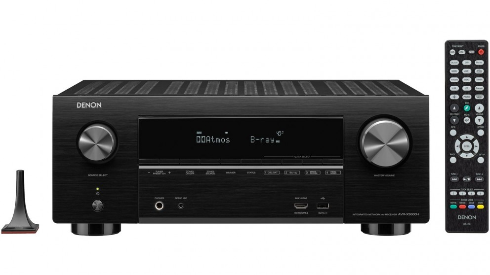 Denon AVR-X3600H 9.2 Channel 4K AV Receiver with 3D Audio and Heos Built-in