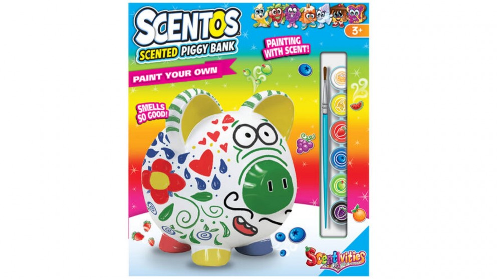 Scentos Scented Paint your own Piggy Bank